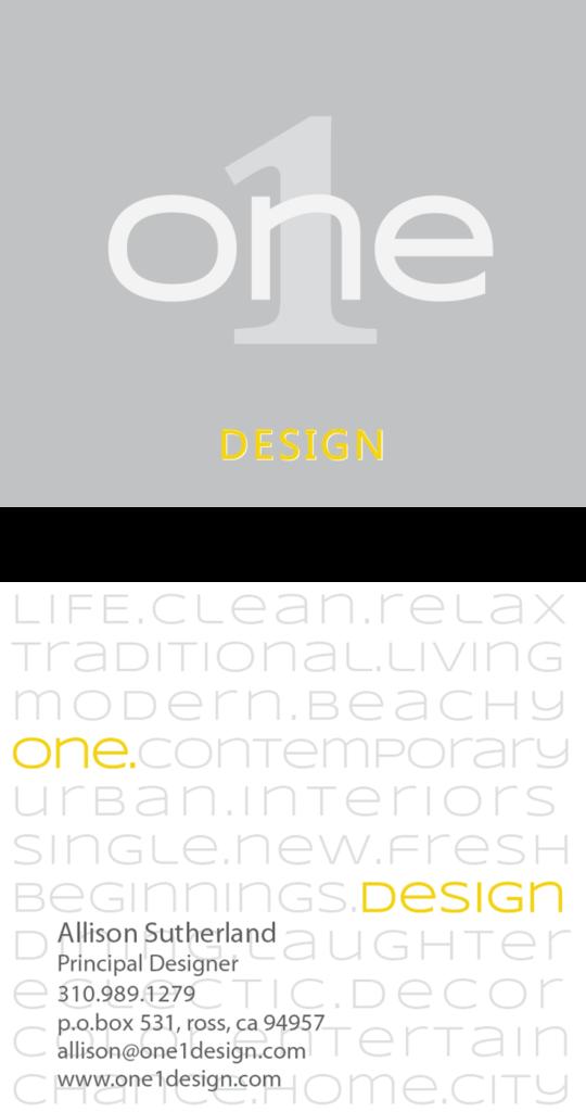 one-design-card